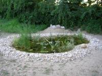 Kerti tó, csobogó Budapest Csepel