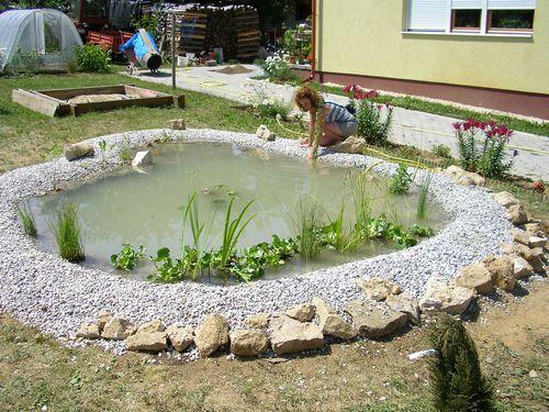 Veszprémben kerti tó, csobogó, sziklakert építés, kertépítés