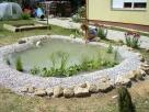 Tóépítés patakkal - Révfülöp - kertépítés képek