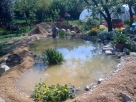 Kerti tó és csobogó építés - Szigliget - kertépítés képek